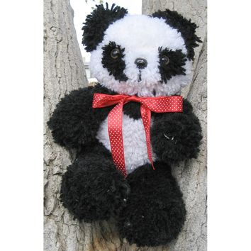 Panda Huggables Stuffed Toy Latch Hook Kit 16""