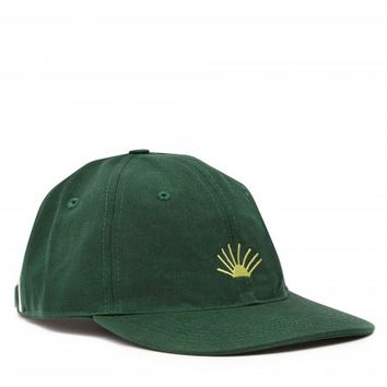 Gosha Rubchinskiy x Timur Novikov Cotton Embroidery Cap (Green/Yellow)