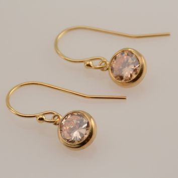 14k Gold-filled Cubic Zirconia Earrings