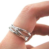 Classic Three Connected Rings Linked into One in Silver | Sizes 4 to 8 Available