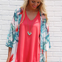 Summer Staple Modal V-Neck- Coral