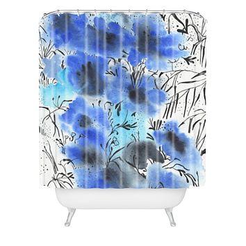 Elena Blanco Forest flowers Shower Curtain