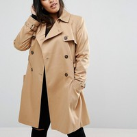 ASOS CURVE Classic Trench at asos.com