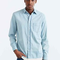 Cheap Monday Air Denim Button-Down Shirt- Blue