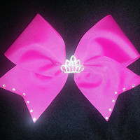 Cheer Princess Bow by ThingsToCheerAbout on Etsy