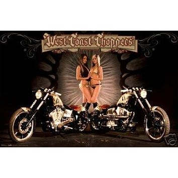 West Coast Choppers Poster - Hot Sexy Babes Bikes - New