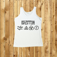 Led Zeppelin Tank Top Shirt UK Hard Rock Women TShirt Size S M L