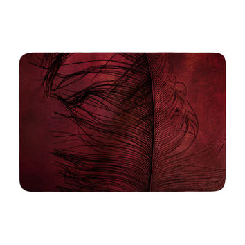 "Robin Dickinson ""Plumtickled"" Maroon Red Memory Foam Bath Mat"