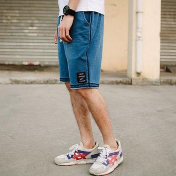 DCCKON3 New fashion mens short jeans brand clothing summer movement board shorts Retro Leisure breathable denim shorts male 7970