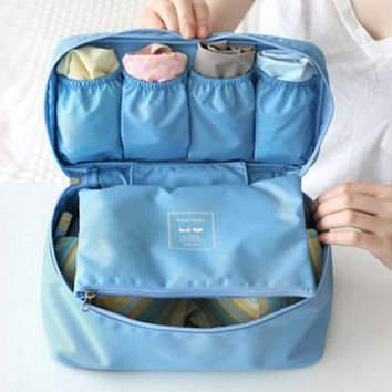 Travel Pouch underwear bra finishing package portable dust multifunction wash bag