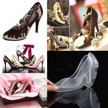 Fondant Shoe Chocolate Mold High-Heeled Mold Candy Sugar Paste Mold for Cake Decorati