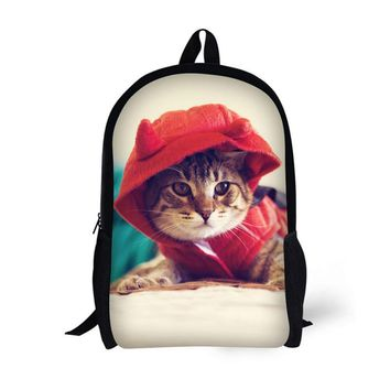 HUE MASTER 17 inch cute pattern animal student shoulder bags for children boy girl leisure bags student backpacks book backpacks