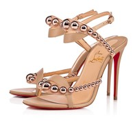 Cl Christian Louboutin Galeria Vers Nude/bronze Rose Leather 18s Sandals 1181115h166 - Best Online Sale