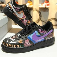 DCCKU62 VLONE x Nike Air Force 1 Low AF1 Rock And Roll Graffiti 923092-100 Sport Shoes-1
