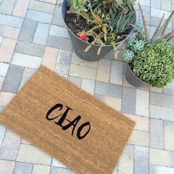 CIAO welcome mat