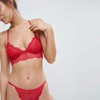 ASOS Gina Geo Lace Triangle Bra at asos.com