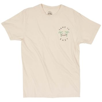 Take it Easy Oasis embroidered natural graphic tee
