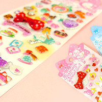 Buy Bow & Jewel Sponge Stickers - Alice in Wonderland at Tofu Cute