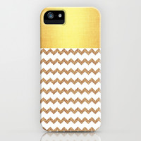 Golden Chevron - for IPhone iPhone & iPod Case by Simone Morana Cyla