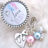 Personalized Id Badge Reel, RN, BSN Np, Lpn, Lmt,  Jewelry, Necklace White NICU Holder Pull Id Clip, Labor and Delivery Nurse Graduate