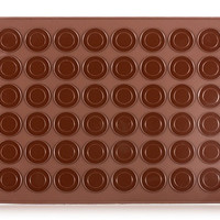48pc Silicone Macaroon Mold Sz L (Brown)