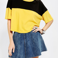 Urban Outfitters - Truly Madly Deeply Colorblock Cropped Tee