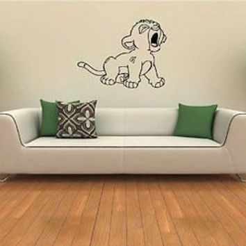 Lion King Simba Wall Art Sticker decal 360
