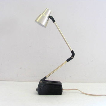 Vintage Desk Lamp / Retro Mid Century Office Light / Marathon Lighting