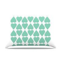 "Project M ""Mint Diamond Hearts"" Pillow Case"