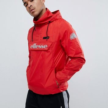 ellesse overhead jacket with reflective logo in red at asos.com
