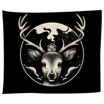 Deer Home Tapestry