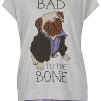 Bad Pug Pyjama Set - Topshop