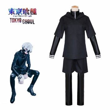Cool Kaneki Ken Cosplay Tokyo Ghoul  Japanese Anime Top Pants Jacket With Mask Black Adult Men Costume Halloween Costumes tokyo ghoulAT_93_12