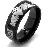 Walmart: Men's Black-Plated Stainless Steel Claddagh Ring