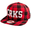 The Crks Flannel Snapback in True Red