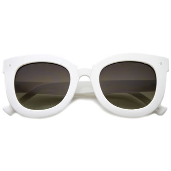 Women's Oversize Bold Horned Rim Cat Eye Sunglasses A170