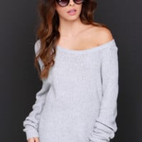 Snuggler's Cove Grey Sweater