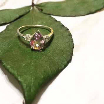 Lavender Amethyst Drop Ring-Version 1