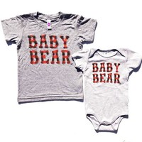 """Baby Bear"" Plaid Ink Unisex Onesuits and Tees"