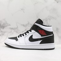 "Air Jordan 1 Mid ""Reverse Black Toe"" AJ1 - Best Deal Online"