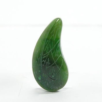 Green Natural Nephrite Jade Carved Leaf Cabochon 10 carats 8 available Free US shipping