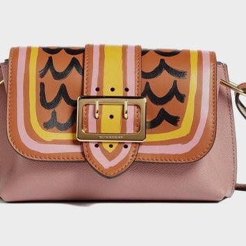 Burberry Women's Small Medley Shoulder Bag,Dusty Pink/Bright Toffee, MSRP $1,395