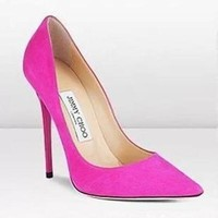 Jimmy Choo Women Fashion Pointed Toe Heels Shoes-5