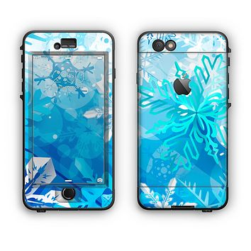 The Winter Abstract Blue Apple iPhone 6 LifeProof Nuud Case Skin Set