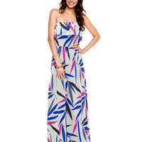 Some of you have to get in on this: Sweet Pea Perpetua Cream Print Maxi Dress