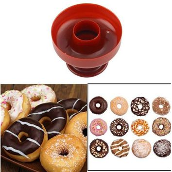 1 PC DIY Donuts Maker Mold Food -Grade Plastic Doughnuts Maker Cutter Fondant Cake Bread Desserts Bakery Mould