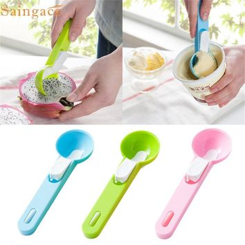 Home Wider Saingace Hot Sale Creative Plastic Kitchen Ice Cream Scoop Fruit Spoon Cooking Tools oct106 Drop Shipping