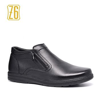 Z6 Brand Men Boots Size 40~45 2017 Autumn Male Leather Shoes #R5336-1