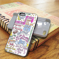 Half A Heart Art Song Lyrics Music Art iPhone 5C Case