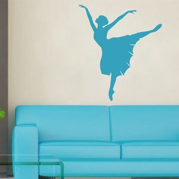 ik2272 Wall Decal Sticker ballerina dance ballet pas pirouette girl bedroom